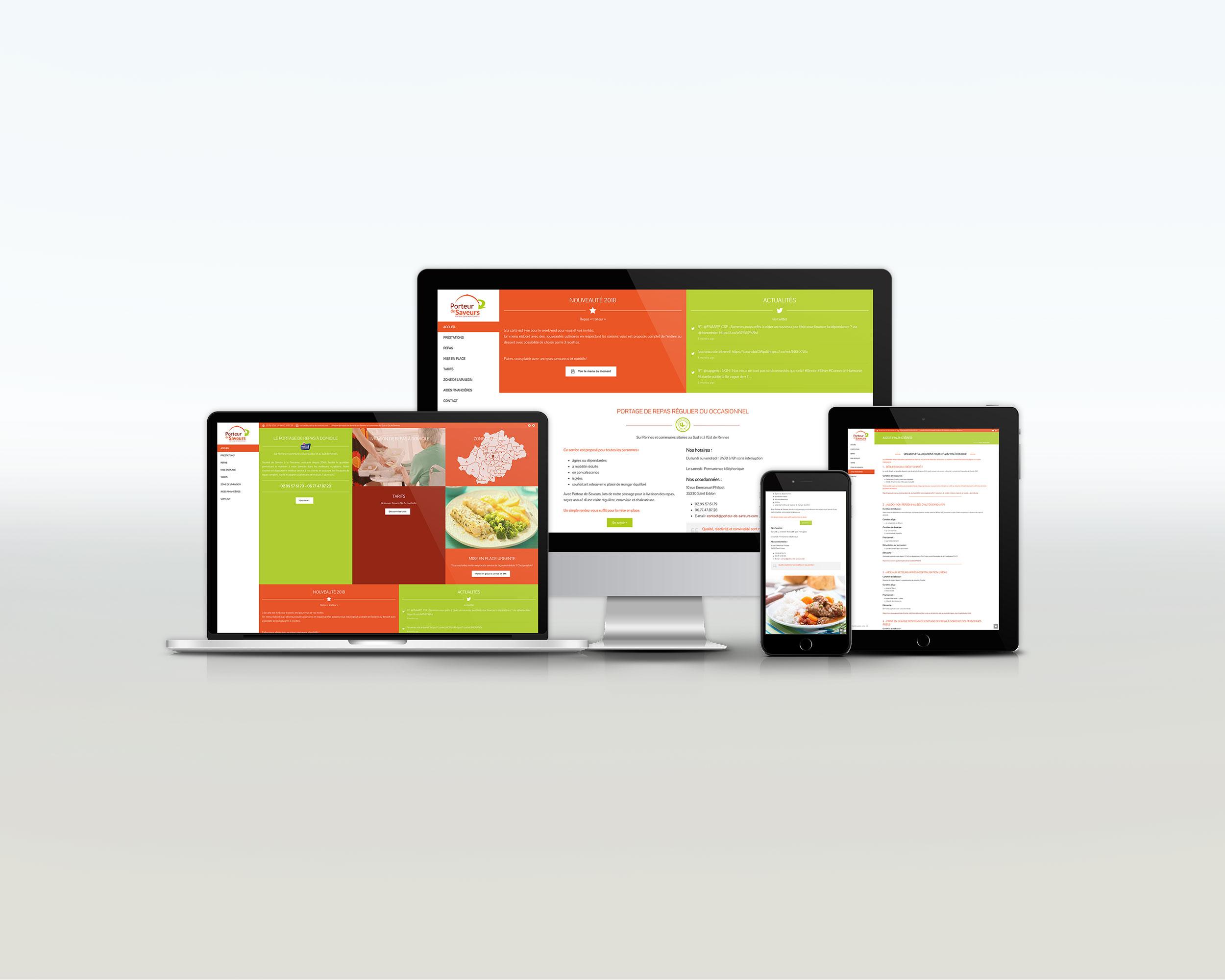 Mockup site internet Porteur de Saveurs