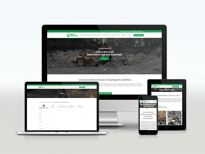 Miniature site internet Breizh Recyclage