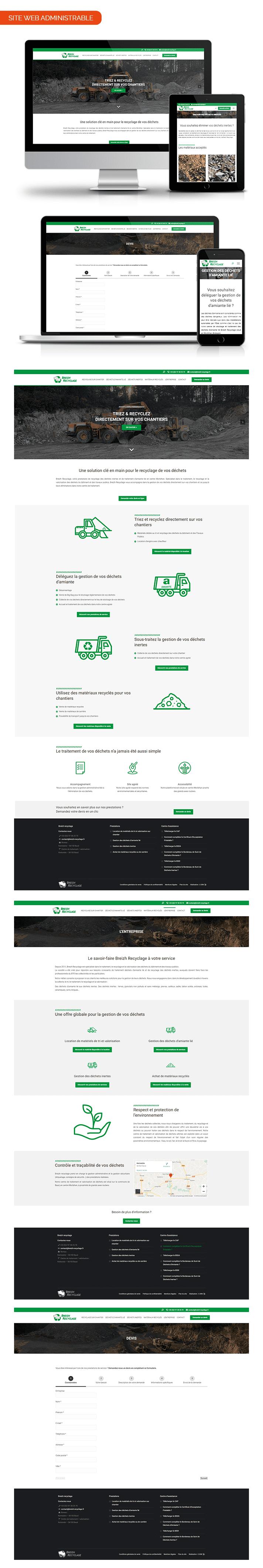 Aperçu site internet Breizh Recyclage