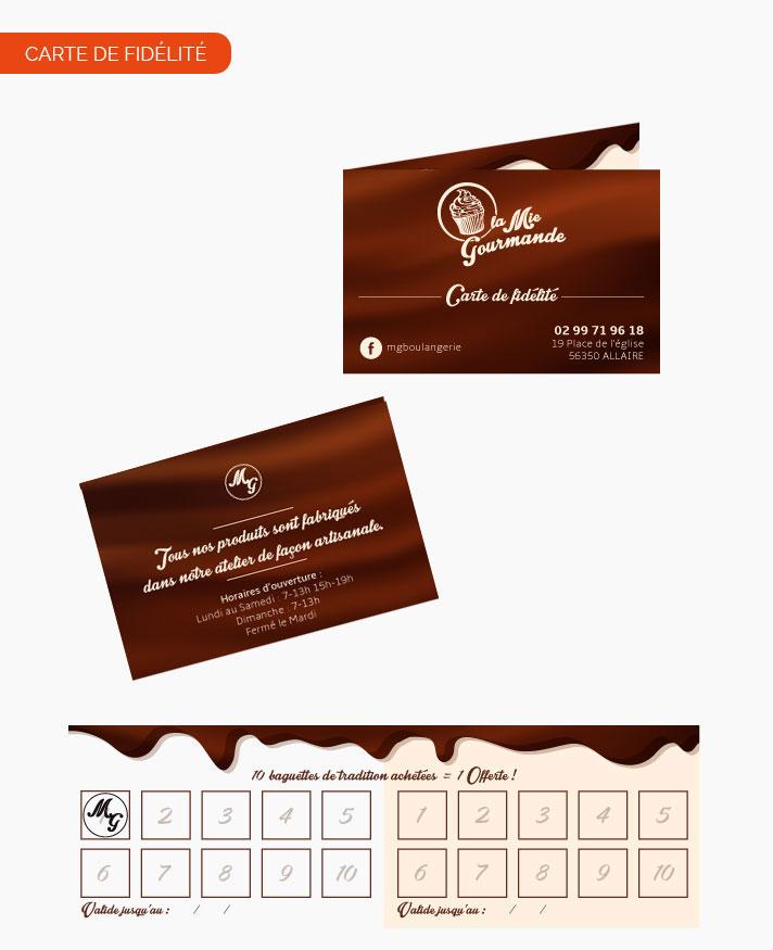 Carte Fidelite Boulanger En Ligne.Creation Carte De Fidelite Pour La Bouangerie La Mie Gourmande
