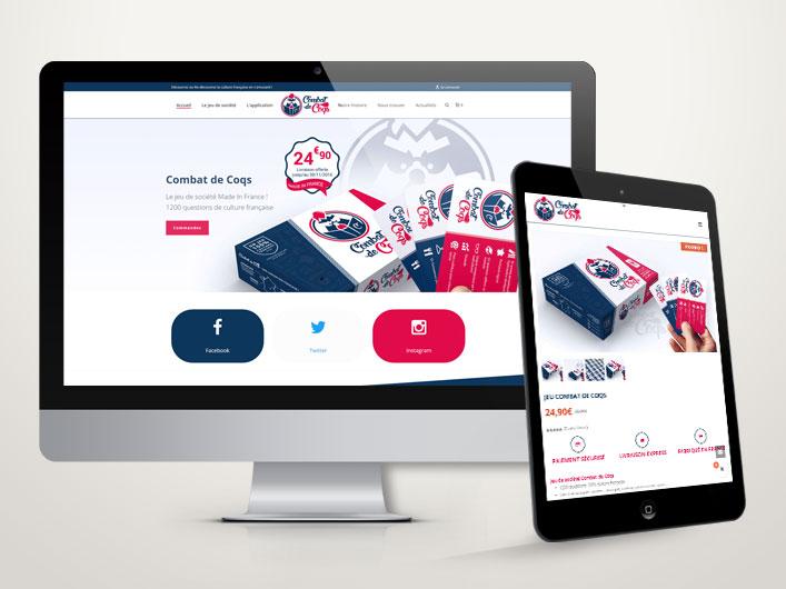 Site e-commerce combat de coqs