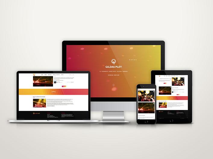 Mockup site internet DJ Gildas Pley