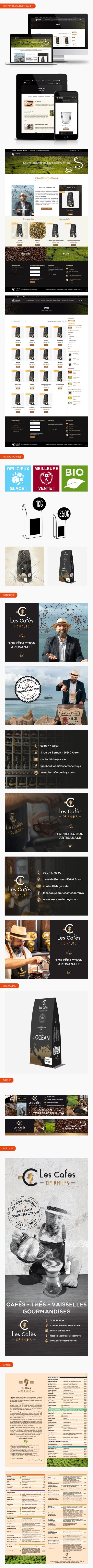 Aperçu pages site internet e-commerce Les Cafés de Rhuys.