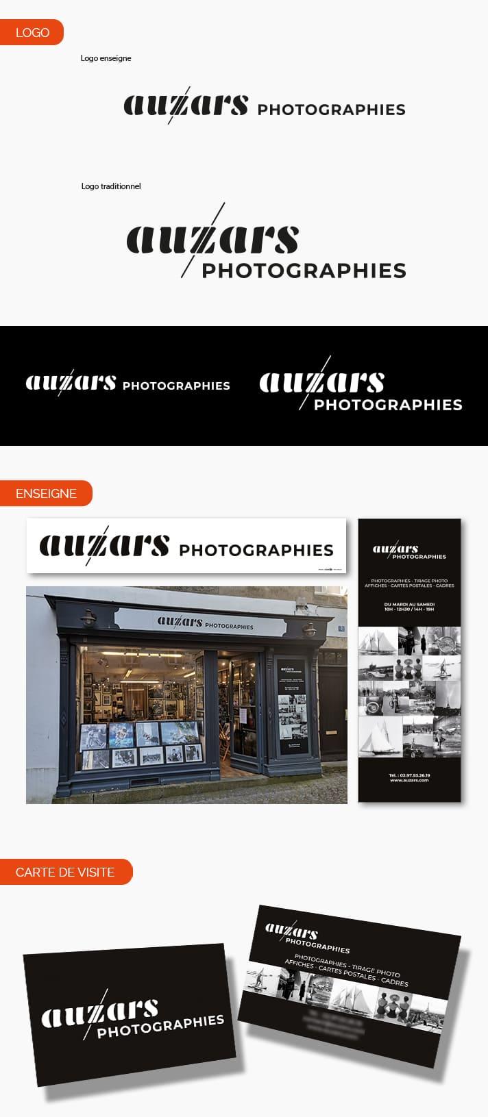 Aperçu logo et enseigne pour Auzars Photographies à Vannes