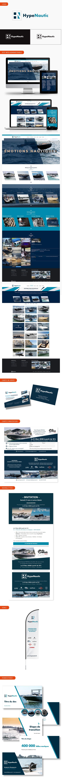 Aperçu création logo, supports de communication et site internet pour HypeNautic.