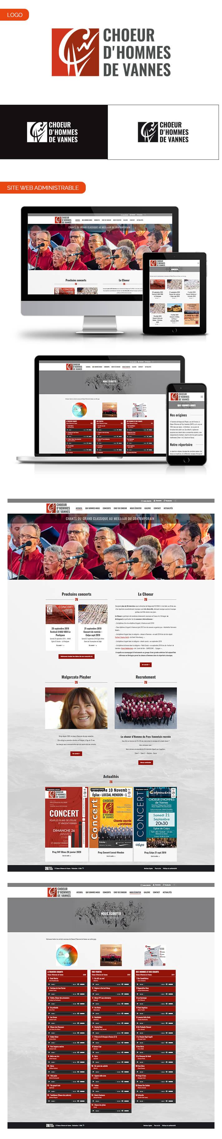 Aperçu site internet Choeur d'Hommes de Vannes