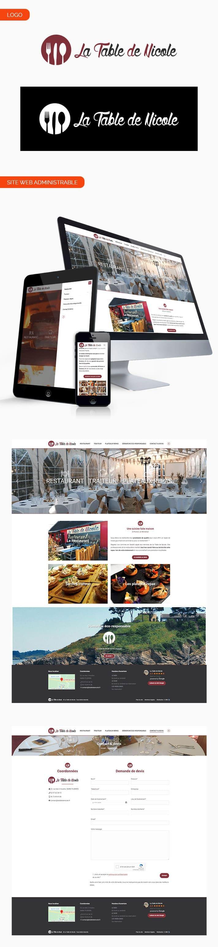 Site internet La Table De Nicole