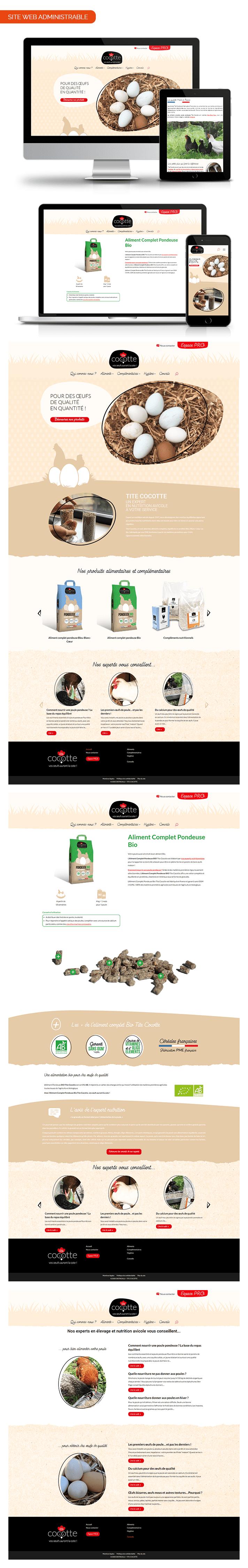 Aperçu site internet Tite Cocotte